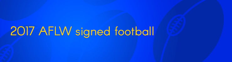 2017 AFLW signed football